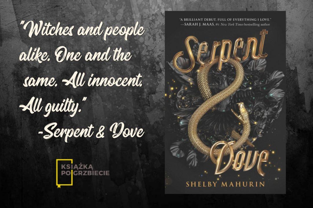 Serpent & Dove okładka i cytat
