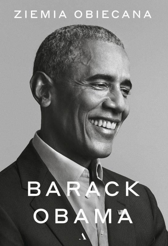 Ziemia obiecana Barack Obama na okładce czarno białej